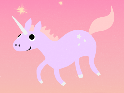 Unicorn Time unicorn horse magic pink purple cute girly stars animals vector illustration horn