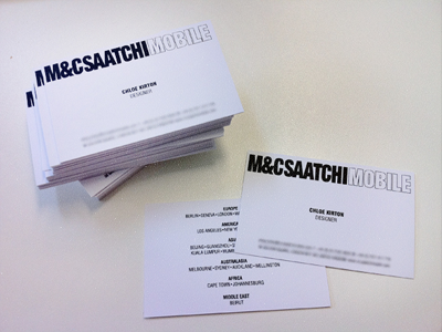 Business Cards business cards work show-off