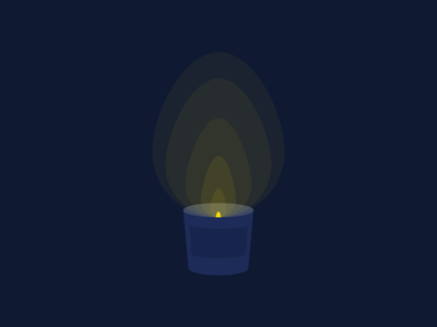 Light A Candle design simple illini night club flame bedtime relax night glow light candle blue and yellow yellow blue