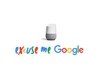Excuse Me Google font text title article white excuse me simple colour google