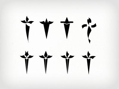 Daggars text vector daggar jewish app decoration