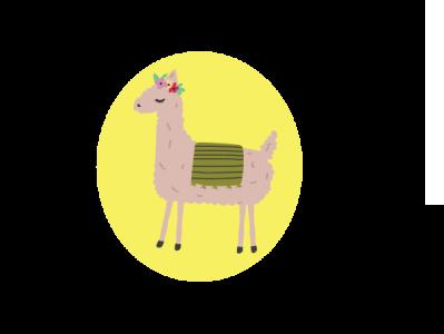 Alpaca drawing minimal vector illustration design