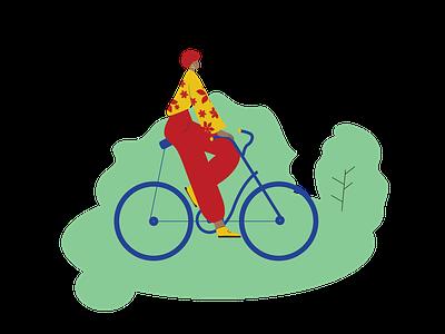 Gir On A Bicke 01 minimal vector icon drawing illustration design