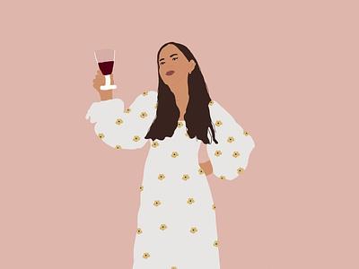 It is a wine time digital illustration illustration drawing design