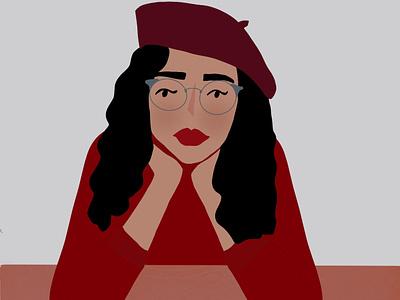 French Girl digital illustration illustration drawing design