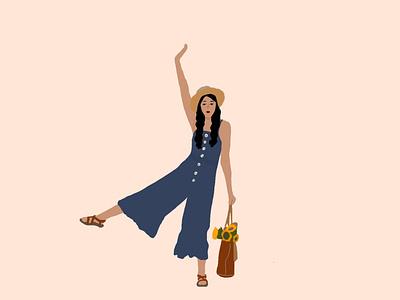 Summer Girl digital illustration illustration drawing design