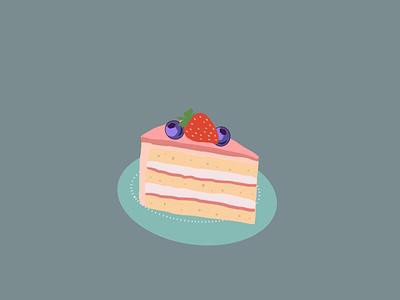 Take a cake minimal digital illustration illustration drawing design