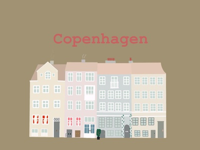 Copenhagen minimal digital illustration illustration drawing design