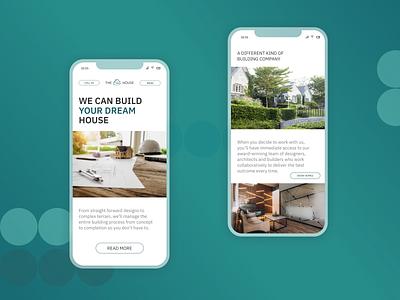 HouseBuilding minimal ux ui web design