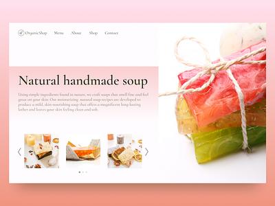 HandMade Soup ux ui design web