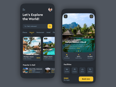 Travel and Hotel Booking app booking dark mode figma uiux mobile app hostel house accomodation tourism vaccation hotel reservation booking app hotel booking hotel travel