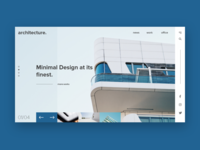 Debut shot: Architecture Website Design
