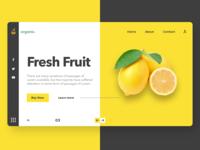 Organic Food Website concept.
