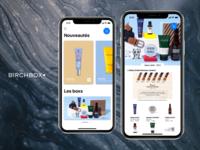 Birchbox App Design