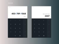 Daily UI #4 ; Calculator
