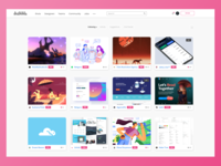 Dribbble Redesing Concept
