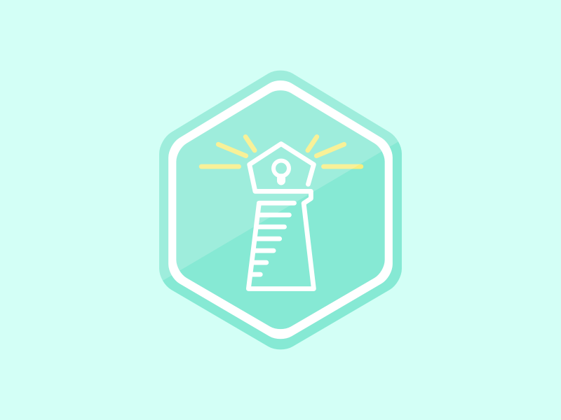 Beacon hexagon bot app icon hack week iconography line illustration line light lighthouse icon beacon