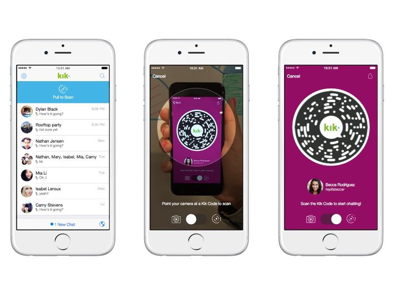 Kik Codes iphone 6 mobile web pull to scan kik code scanner chat qr code code kik codes design kik