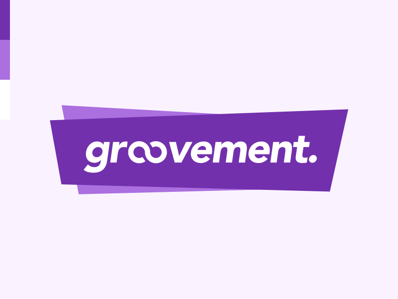 Groovement branding text geometric purple design product alzheimers brand logo
