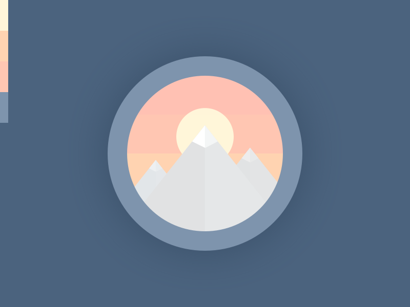 Mountains sketch wip perspective flat icon sunset patch mountains