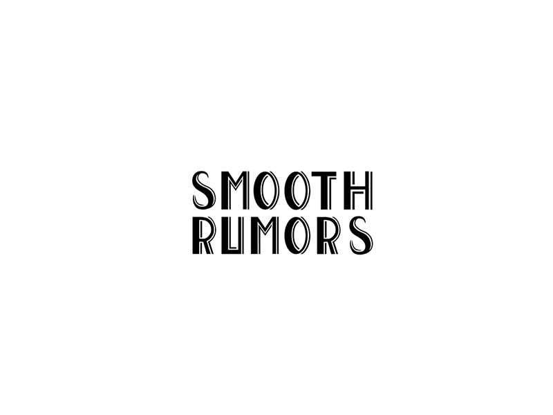 Smooth Rumors event party typography callligraphy font music 1920s black vector illustrator graphicdesign logo