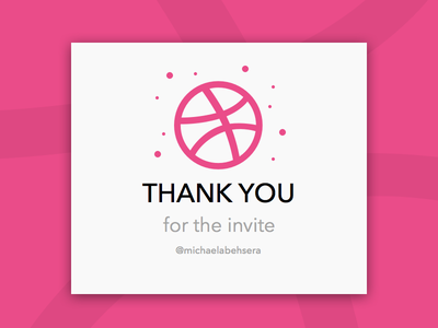 Hello Dribbble thank you first shot invite