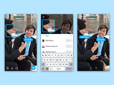 Tagging in Snapchat ios tagging snapchat
