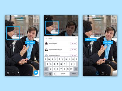 Tagging in Snapchat