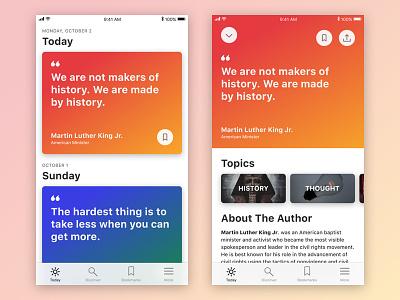 Quotes App mobile app quotes ios11