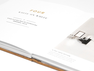 Small Spaces book redesign small spaces modern clean dustin johnson gold gotham didot white space