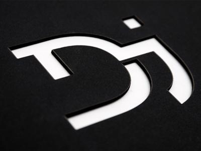 Personal Monogram monogram logo personal branding d j laser cut