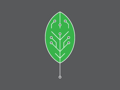 Advocacy Poster Leaf e-waste advocacy poster electronic dustin johnson waste future nature clean minimal