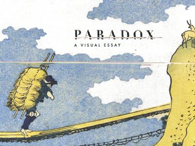 Paradox: A Visual Essay paradox visual essay japanese woodblock japan katsushika hokusai didot futura book dustin johnson glitch
