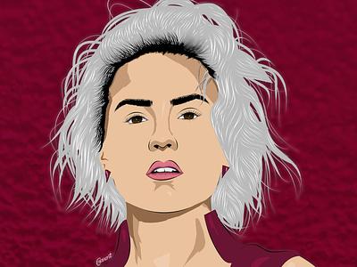 Demi Lovato vector art illustration illustration digital drawing digital painting digitalart digital artwork