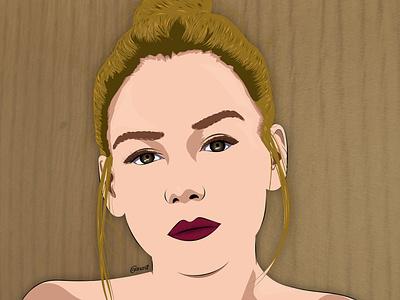 Ester Expósito texture vector vector art illustration illustration digital drawing digital painting digitalart digital artwork