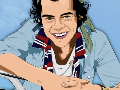 Harry Styles vector art vector fanart illustration illustration digital drawing digital painting digitalart digital artwork