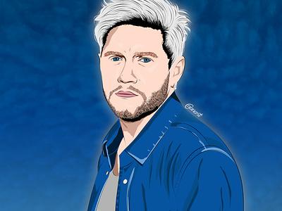 Niall Horan texture vector art vector illustration illustration digital drawing digital painting digitalart digital artwork