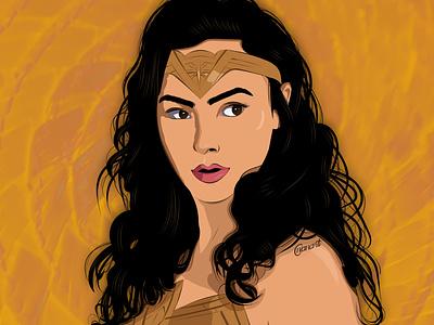 Gal Gadot - Wonder Woman texture vector art vector illustration illustration digital drawing digital painting digitalart digital artwork