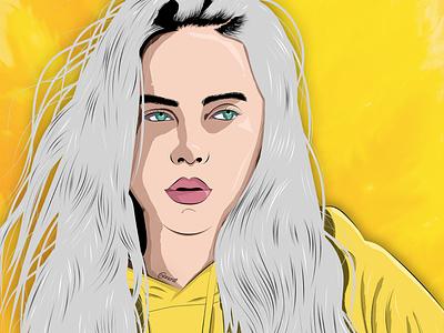 Billie Eilish texture vector art vector illustration illustration digital drawing digital painting digitalart digital artwork