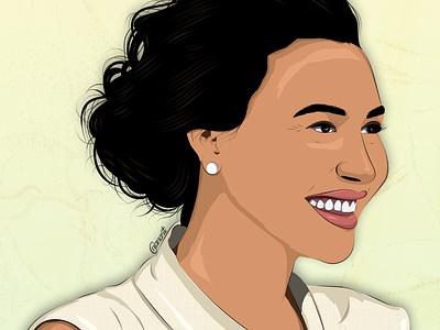 Naya Rivera texture vector art vector illustration illustration digital drawing digital painting digitalart digital artwork