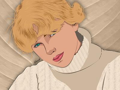 Taylor Swift - folklore texture vector art vector illustration illustration digital drawing digital painting digitalart digital artwork