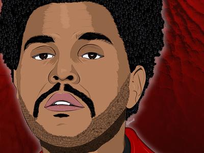 The Weeknd texture vector art vector illustration illustration digital drawing digital painting digitalart digital artwork