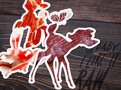 Baby I like it raw 🦀🐑 odb wu-tang venison krab mutton meat silhouette stickers