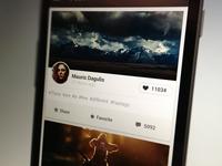 Mobile application, social feed