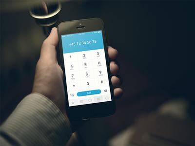 iOS7 Dial pad concept - sneak peak