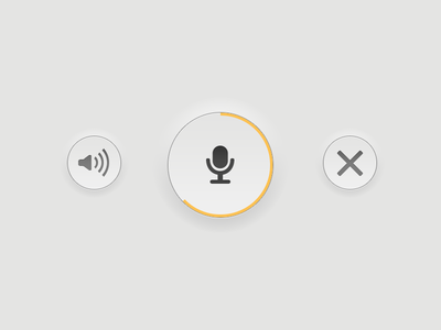 Record record button mobile mobile app app listen recording extruded buttons cancel microphone