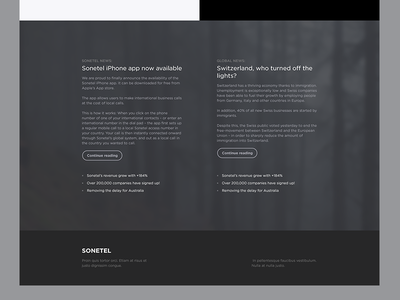 Footer concept flat simple minimalistic footer black white article web web design website