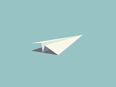 Paper Plane icon flat paper plane airplane plane teal illustration