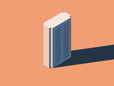 Building icon flat building simple minimalistic illustration sketch
