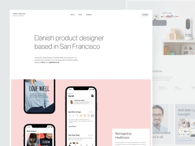 UbbeDall.com 2021 flat minimalistic product design web ios personal portfolio website